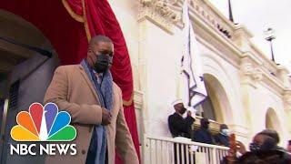 Kamala Harris Escorted By Capitol Police Officer Eugene Goodman  NBC News