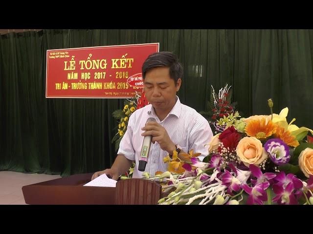 Trường THPT Minh Châu bài phát biểu của thầy Nguyễn Đức Hồng