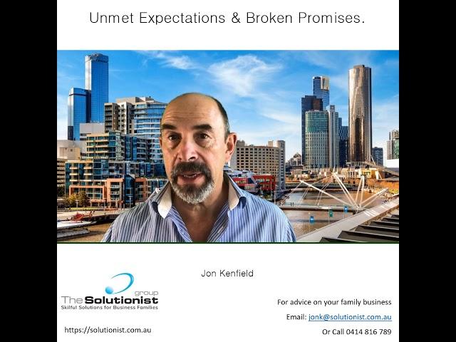 Blog #4 - Unmet Expectations & Broken Promises.
