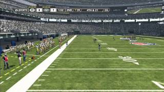 NFL Madden 12 Xbox 360 Packers vs. Jets  Full Gameplay HD HQ