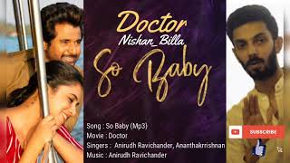 #Doctor - So Baby (Mp3) |Sivakarthikeyan | Anirudh Ravichander
