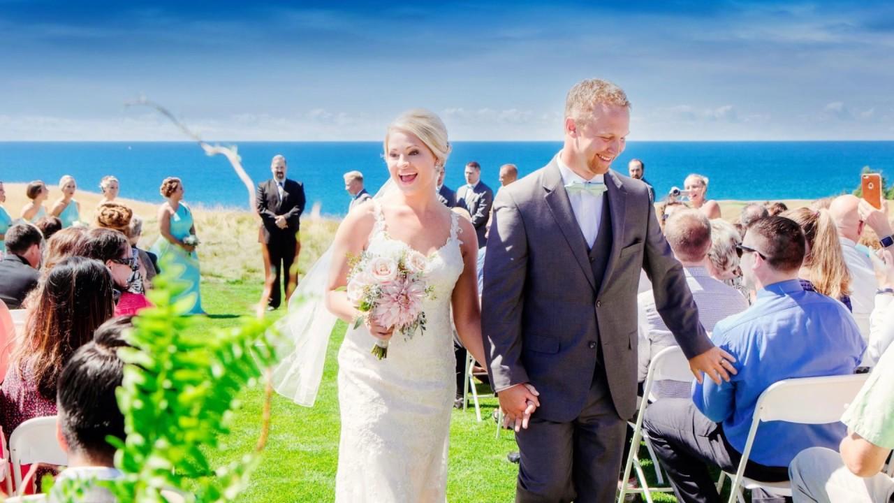 Arcadia Bluffs Golf Club Wedding Photography Lux Light Pho