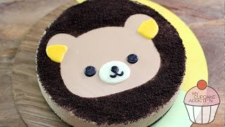 Caramel Cheesecake Recipe With Rilakkuma Teddy Bear Design | My Cupcake Addiction