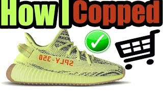 How I Got The SEMI FROZEN YELLOW YEEZY BOOST ( MOST LIMITED YEEZY 350 BOOST V2 )