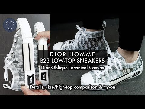 5e530121 Dior Homme B23 Low-Top Sneakers in Oblique Technical Canvas #DiorSummer19
