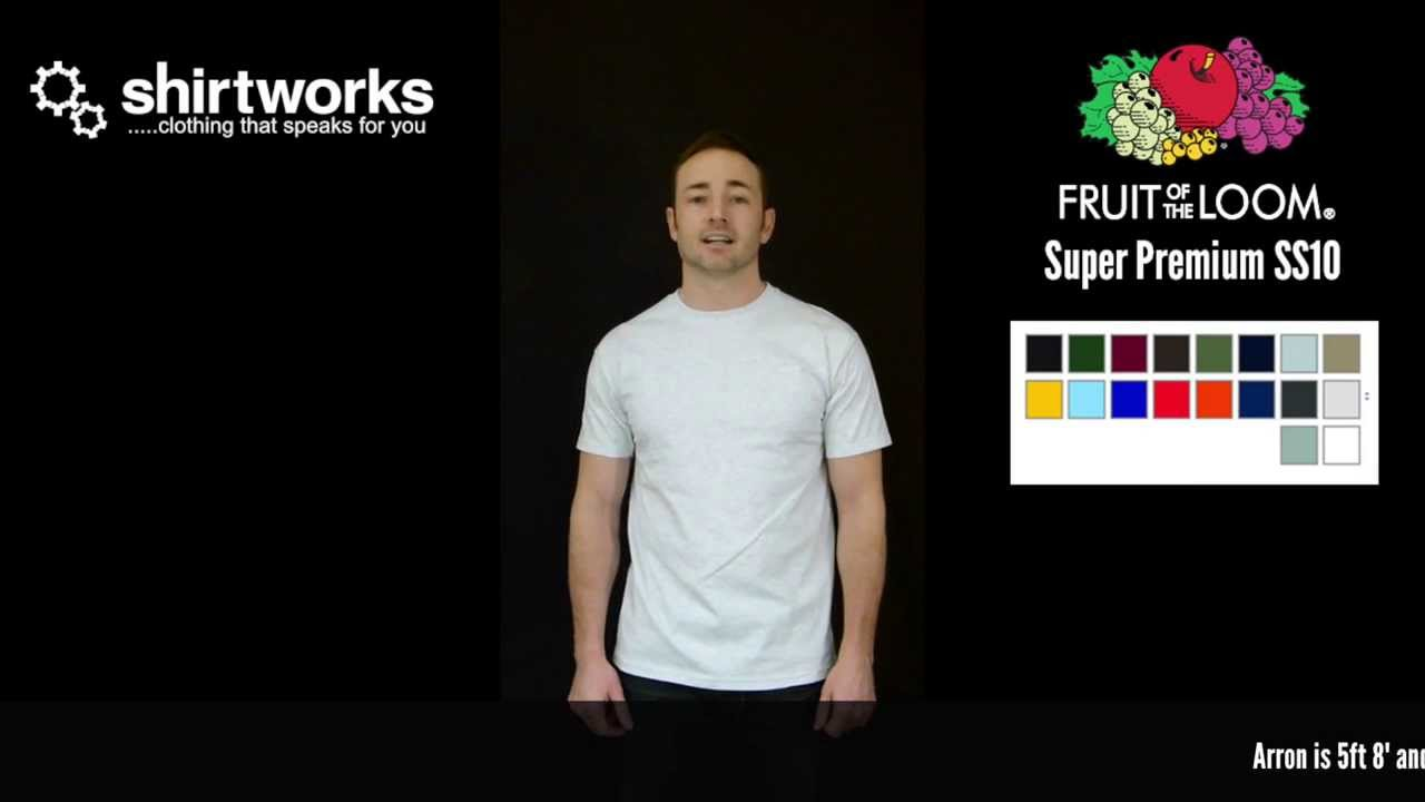 51878864 Fruit of the Loom Super Premium T-Shirt SS10 - YouTube