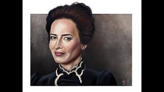 Penny Dreadful's Vanessa Ives (Eva Green) Portrait Process Painting