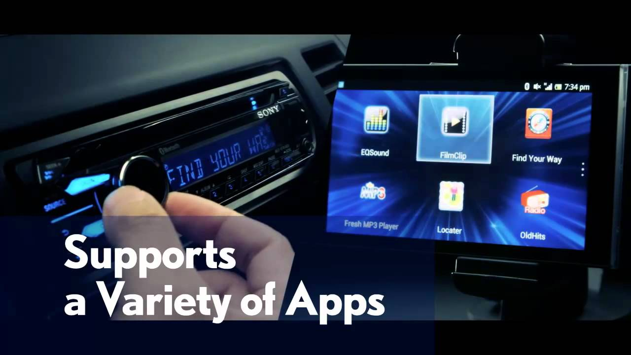 App Remote For Control Your Smartphone With Sonys Car Receiver Sony Xplod Wiring Diagram On Upgrading To A Stereo Can Us Area Long Version Youtube