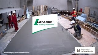 Insulcore Precast concrete wall panels being produced in timelapse by Lafarge Precast Edmonton