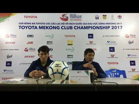 TMCC 2017 Final (1st Leg) Post-match Press Conference - Sanna Khanh Hoa BVN FC