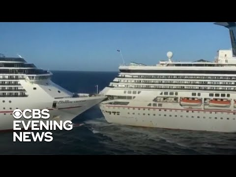 Carnival cruise ships collide, causing passenger injury