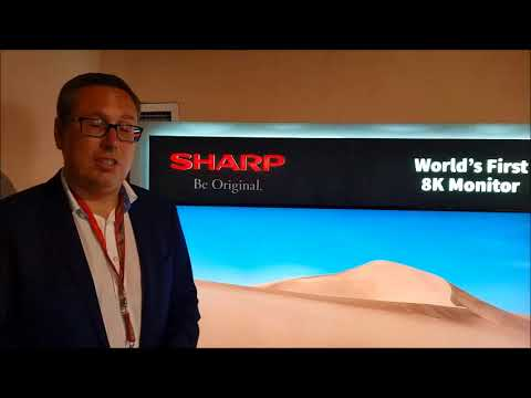 Sharp's 8K TV