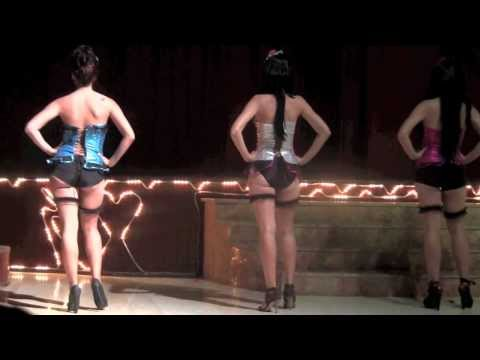 'Hot & Haughty & Naughty' fashion models frolic in the Theatre Nightclub