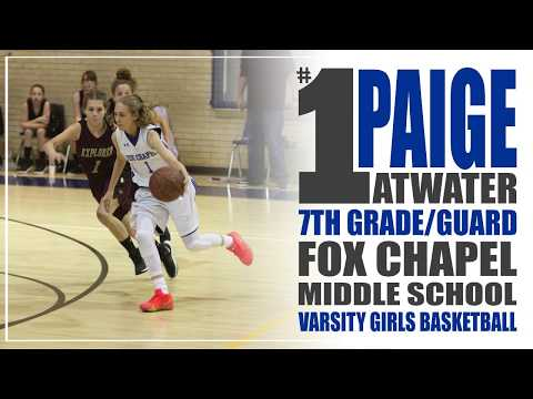 Paige Atwater | 7th Grade | 2018 Season Highlights | Fox Chapel Middle School Varsity Basketball