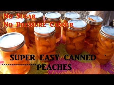 HOW TO CAN PEACHES: NO PRESSURE CANNER NO SUGAR!