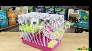 Hamster cage LAURA with a plastic accessory