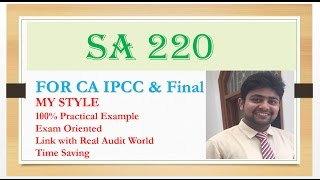 SA 220 |Standards on Auditing| Quality Control for an Audit of Financial Statement- Summary