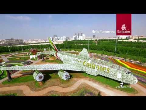 Emirates A380 at Dubai Miracle Garden | Emirates Airline