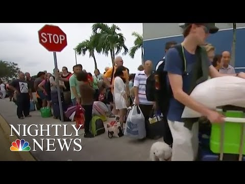 Hurricane Irma: Long Lines For Thousands Fleeing To Overcrowded Shelters | NBC Nightly News