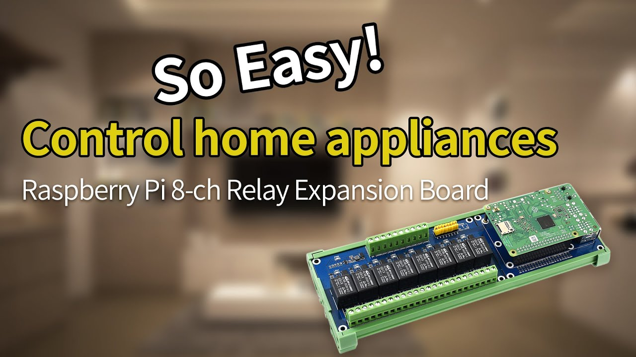 Download Waveshare Raspberry Pi 8-ch Relay Expansion Board, let your Pi able to control high voltage products