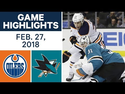 NHL Game Highlights |Oilers vs. Sharks - Feb. 27, 2018