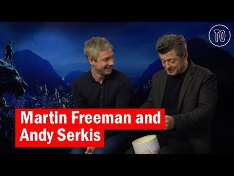 Martin Freeman and Andy Serkis  Black Panther Bucket of Questions