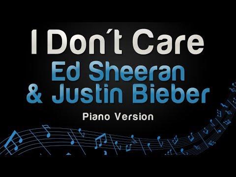 Ed Sheeran & Justin Bieber - I Don't Care (Piano Version)