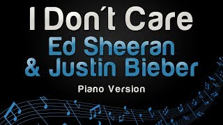 Ed Sheeran Justin Bieber I Don 39 t Care Piano Version.mp3