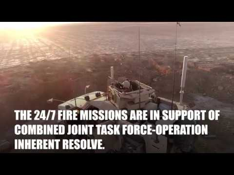 Marines Provide 24/7 Fire Support in battle against ISIS in Syria
