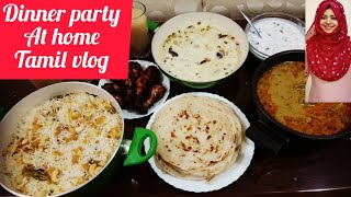 Vlog / Dinner Party at Home / Indian Dinner Ideas / ghee rice / tamil vlog