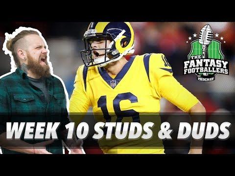 Fantasy Football 2017 - Week 10 Studs & Duds, Rising Stars, King Goffrey - Ep. #478