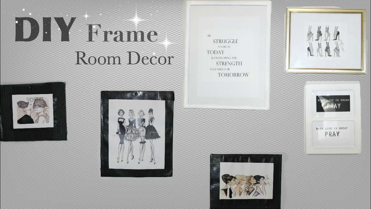 Room Decor || FRAME DIY || on a BUDGET | MAKE YOUR OWN FRAME - YouTube