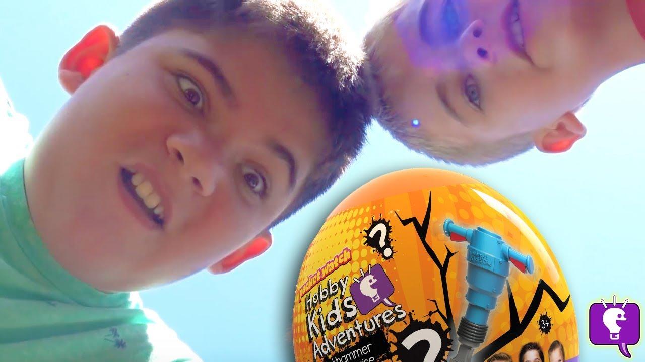 HobbyKids BIG Jackhammer Egg Surprise!