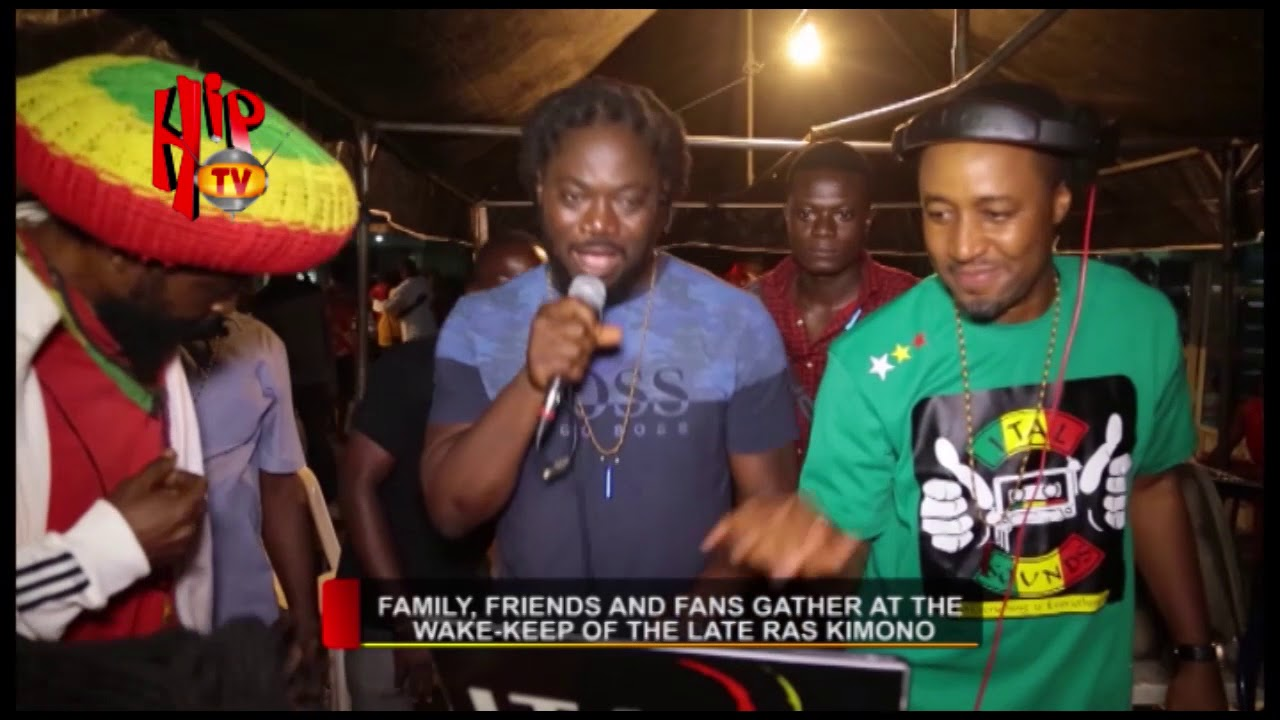 FAMILY, FRIENDS AND FANS GATHER AT THE WAKE KEEP OF THE LATE RAS KIMONO