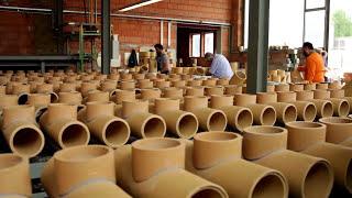 Produkcja rur ceramicznych do kominów systemowych HOCH.