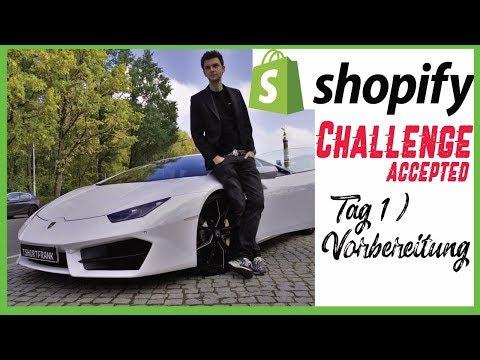 Shopify Challenge POD Tag 1 - Die Vorbereitung zum dropshipping mit print on demand Artikeln thumbnail