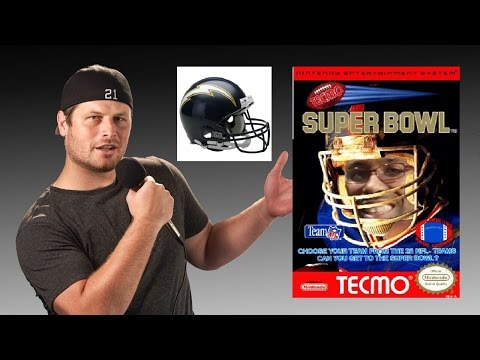 Tecmo Super Bowl - NES - San Diego Chargers - Tecmo Madison XIII with Mort