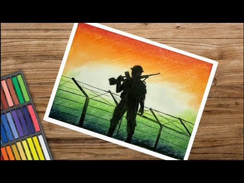 How To Draw Indian Army In Bordervery Easy