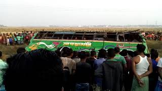 Bus accident at satkui, mohanpur, midnapore.died-11, injured-25.