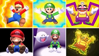 Mario Sports Superstars - All Characters Win & Loss Animations (Golf)