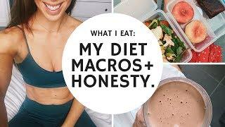 WHAT I EAT   MY DIET, MACROS + GROCERIES!