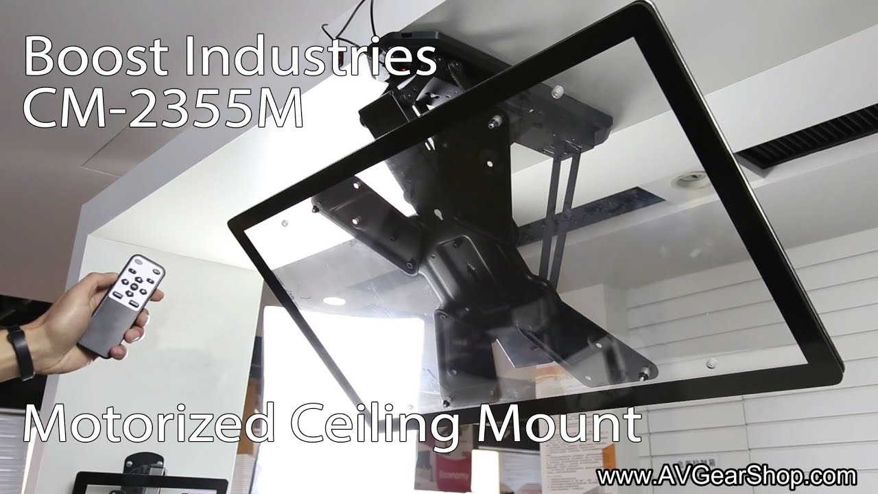 Boost Industries Cm 2355m Motorized Flip Down Tv Ceiling Mount