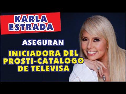 ESCANDALO :Carla Estrada es señalada como la creadora del prosticatalogo de televisa