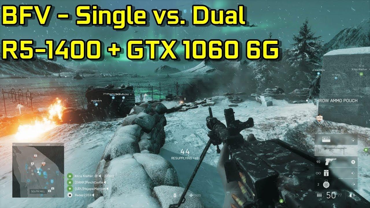Battlefield V - Single Channel vs  Dual Channel
