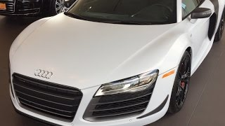 2015 Audi R8 Competition Coupe V-10-Matte White