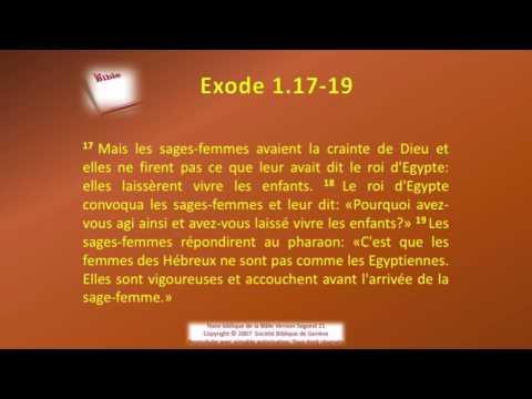 02 Le livre de l'Exode Chap 01 Sg21 Texte déroulant et l'audio  vidéo évangile Bible La Parole de