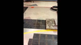 Infrared Heat Machine removing VAT Floor Tile