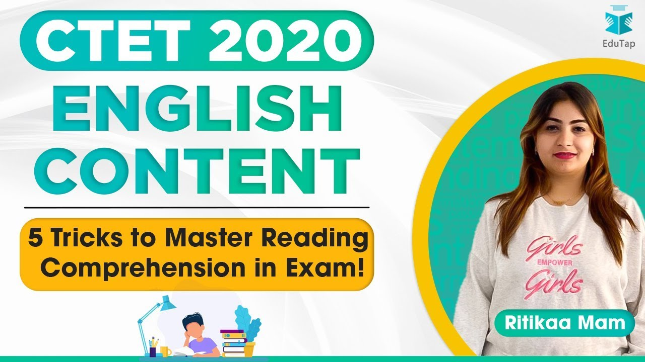 लक्ष्य CTET 2020 |  5 Tricks to Master Reading comprehension in Exam! | English Content