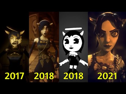 Evolution of Alice/Allison Angel in Bendy Games (2017~2021) |