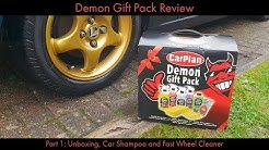 Demon Gift Pack Review Part 1: Unboxing, Car Shampoo and Fast Wheel Cleaner
